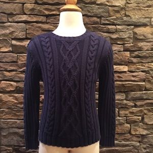 Nautica Navy Blue cable Knit sweater